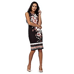 The Collection - Black oriental print knee length pencil dress