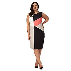 The Collection - Black colour block plus size dress