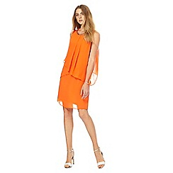 The Collection - Orange chiffon knee length shift dress