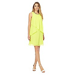 The Collection - Lime chiffon knee length shift dress