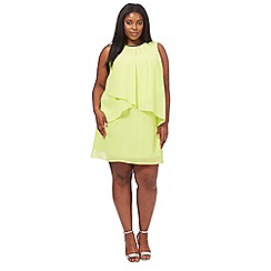 The Collection - Lime chiffon knee length plus size shift dress