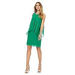 The Collection - Green chiffon knee length shift dress