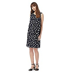 The Collection - Navy spot print dress