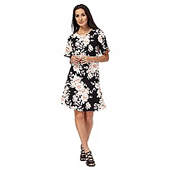 The Collection - Black floral print swing dress