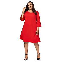 The Collection - Red textured plus size dress