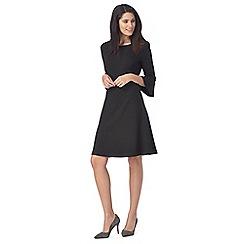 The Collection - Black knee length skater dress