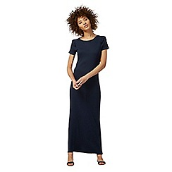 The Collection - Navy frilled trim maxi dress