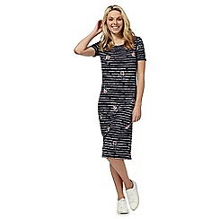 The Collection - Blue stripe print jersey midi shift dress