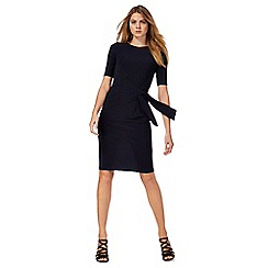 The Collection - Navy short sleeve ruched jersey dress