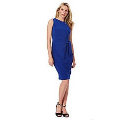 The Collection - Blue ruched plus size dress