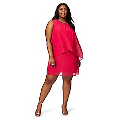 The Collection - Pink stone embellished layered plus size dress