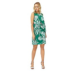 The Collection - Green palm tree print dress
