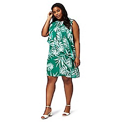 The Collection - Green palm tree print plus size dress