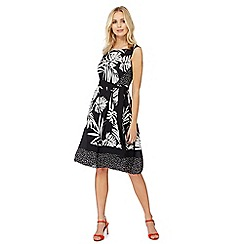 The Collection - Black asymmetric print dress