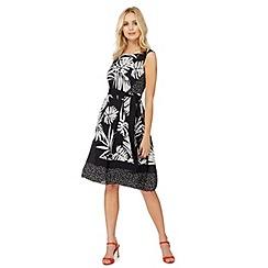 The Collection - Black asymmetric print plus size dress