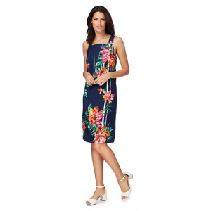 The Collection Multi-coloured floral print knee length shift dress