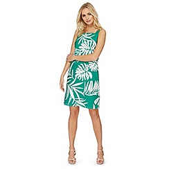 The Collection - Green palm leaf print plus size dress