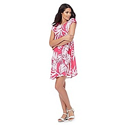 The Collection - Pink palm print swing dress