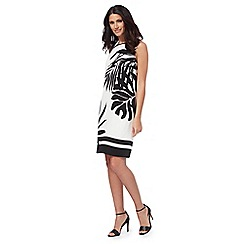 The Collection - White and black palm print dress