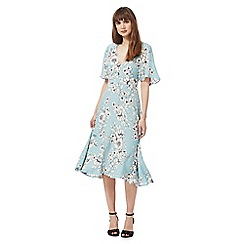 The Collection - Light blue floral print dress