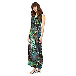 The Collection - Multi-coloured palm print maxi dress
