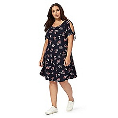 The Collection - Navy floral print plus size dress
