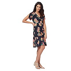 The Collection - Navy tropical floral print dress
