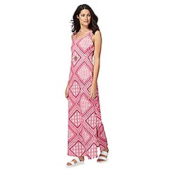 The Collection - Bright pink patchwork print maxi dress