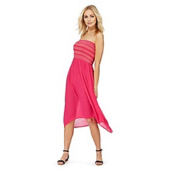 The Collection - Pink embellished bandeau plus size dress