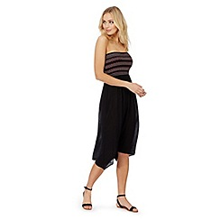 The Collection - Black embellished bandeau plus size dress
