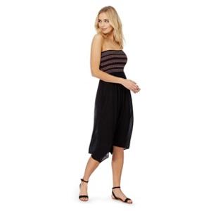 The Collection Black embellished bandeau plus size dress