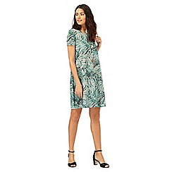 The Collection - Grey and green palm print swing dress