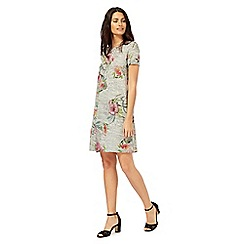The Collection - Grey floral print swing dress