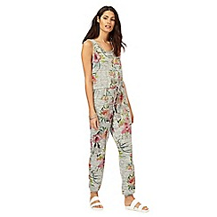 The Collection - Grey floral print jumpsuit