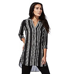 The Collection - Black striped print shirt