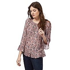The Collection - Pink floral print gypsy top
