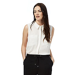 The Collection - Ivory sleeveless utility shirt