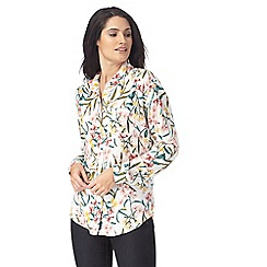 The Collection - Ivory floral print shirt