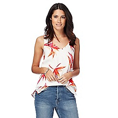 The Collection - Ivory floral print camisole top