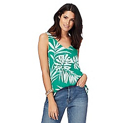 The Collection - Green palm print camisole top