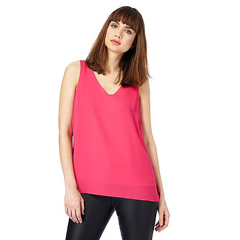The Collection - Pink cross strap back sleeveless top
