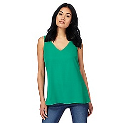The Collection - Green cross strap back sleeveless top
