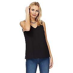 The Collection - Black cross strap back sleeveless top