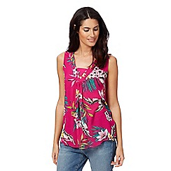 The Collection - Dark pink floral print top