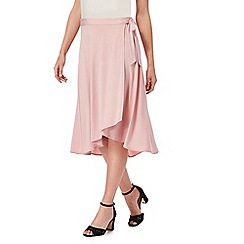 The Collection - Pink wrap midi skirt