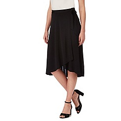 The Collection - Black wrap midi skirt