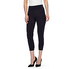 The Collection - Navy jersey cropped leggings