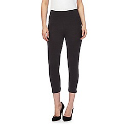 The Collection - Black jersey cropped leggings