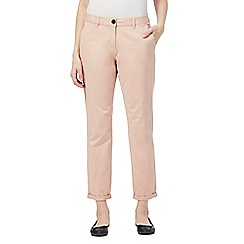 The Collection - Light pink tapered chino trousers