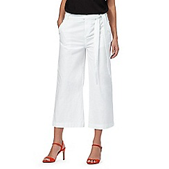 The Collection - White cropped culottes